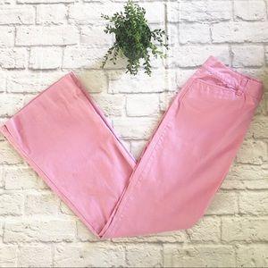 Ralph Lauren pink flare women's pants size 4